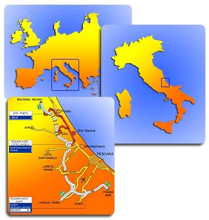 Cartina Italia Joomla.Mappa Geografica Abruzzo Silvi Marina